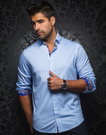 Luxury Light Blue Sport Shirt