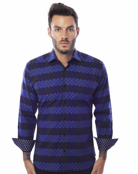 Shop Men - Desiner Navy Stripe Shirt