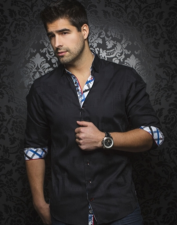 Designer Black Dress Shirt
