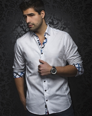 Sporty White Dress Shirt