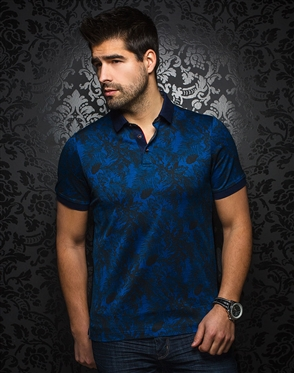 Shop Men Polo Shirts - Unique Blue Polo