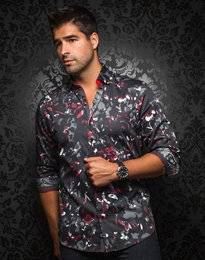 European Fashion Shirt - Cristobal Black Red