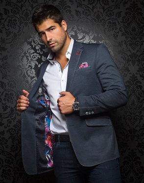 Luxury Men's Blazer - Cruise Navy