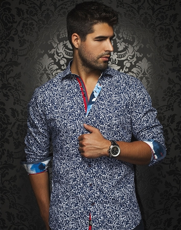 Fashionable Dress Shirt - Navy