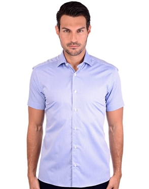 Sporty Blue Cotton Shirt