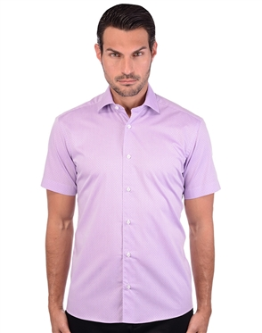 Fiery Lilac Men's Dress Shirt