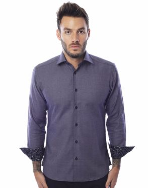 Casual Shirt - Navy Diamond