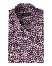 Men's Designer Dress Shirt - Purple Floral Print Woven