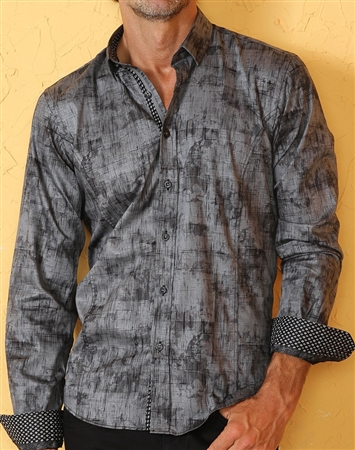 Sporty Black Dress Shirt - Special Deal
