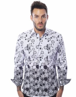 Modern Fashion Shirt | Black Clocks