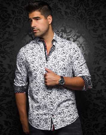 Designer Dress Shirt: Del Sol White
