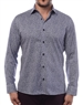 Sporty Dress Shirt - Light-Blue Designer Scale Print Shirt
