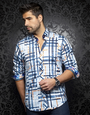 Au Noir Shirt dieter-blue-orange