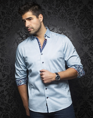 Designer Dress Shirt: Dixon Light-Blue
