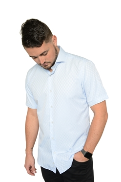 De Marcus Short Sleeve | Elias Light Blue