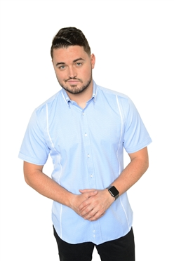 De Marcus Short Sleeve | Ethan Light Blue