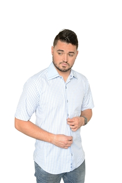 De Marcus Short Sleeve | Alexander Light Blue