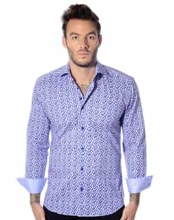 men Blue Sport Shirt | Bertigo Don 02