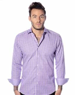 Plaid Purple Shirt Casual Shirt