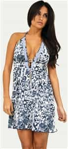 Leopard Swarovski Dress Mini