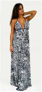 Donatella Dress Corrine Blue leopard Swarovski Dress