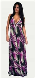Donatella Dress Corrine Purple Brown Swarovski Dress