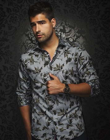 Luxury Sport Shirt - Black Floral