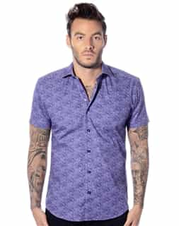 Luxury Blue Short Sleeve Shirt