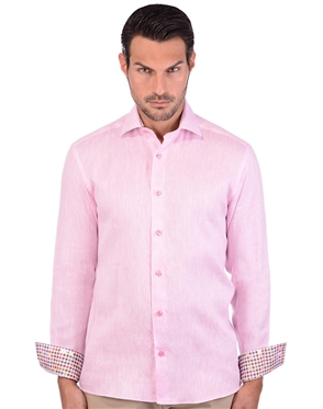 Blush Pink Men's Luxury Summer Shirt