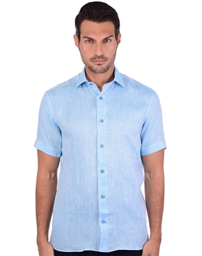 Vibrant Blue Luxury Dress Shirt
