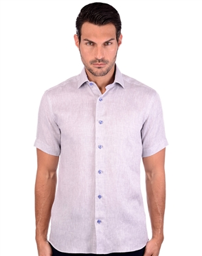 Livid Grey And Blue Men's Woven Shirt