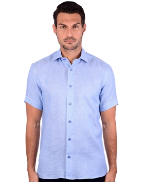 Supreme Blue Linen Men's Shirt