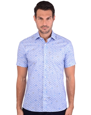 Aquatic Blue Sailor Dress Shirt