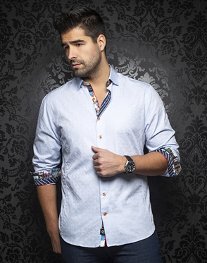 Au Noir Shirt edwin-light-blue