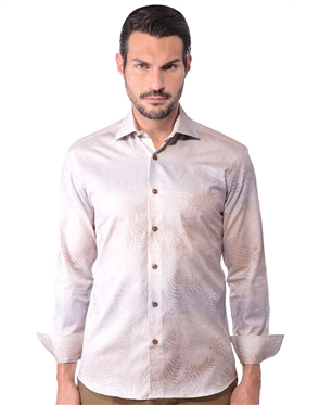 Beige Gradient Men's Cotton Shirt