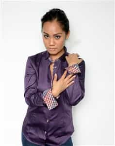 Women Dress Shirt Purple