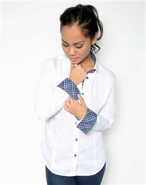 Women White Dress Shirt