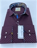 Fashionable Burgundy Dress Shirt