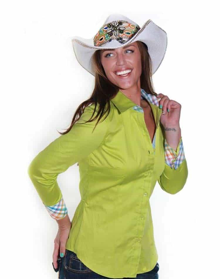Envy Shirt W51014 Lime Green
