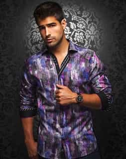 Designer Shirt: Purple Designer Dress Shirt