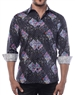 Men's Luxury Sport Shirt - Handsome Abstract Floral Designer Shirt
