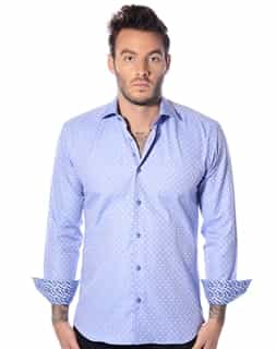 Men Fashion Dress Shirt: Blue