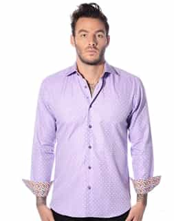Designer Dress shirt: Purple Designer Dress Shirt