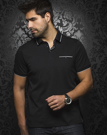 Designer Black Polo Shirt