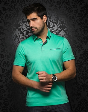 Designer Mint Green Polo