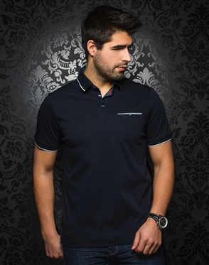 Designer Navy Polo shirt