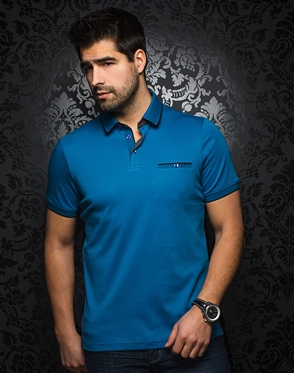 Blue Casual Polo shirt