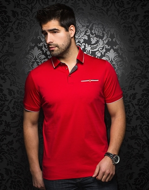 Luxury Red Polo Shirt