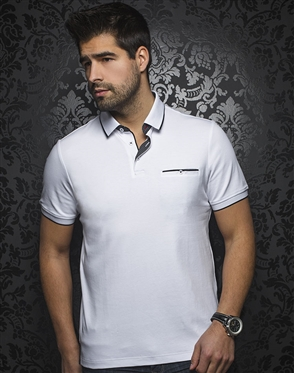 Designer White Polo