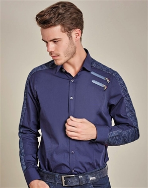 Luxury Sport Shirt - Engin Navy